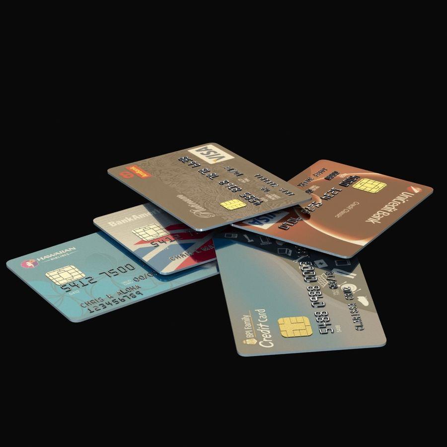 Kredietkaarten royalty-free 3d model - Preview no. 2
