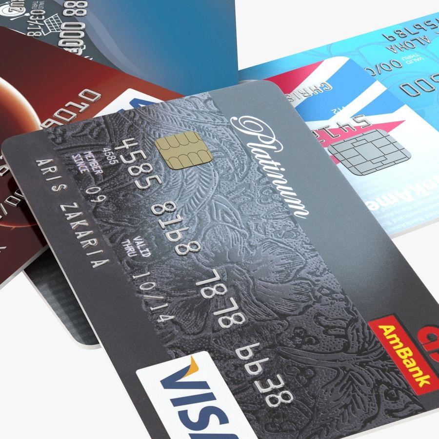 Kredietkaarten royalty-free 3d model - Preview no. 8