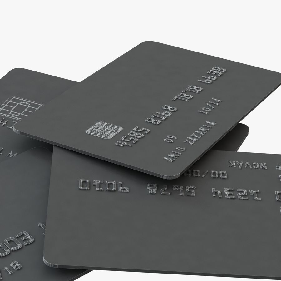 Kredietkaarten royalty-free 3d model - Preview no. 5
