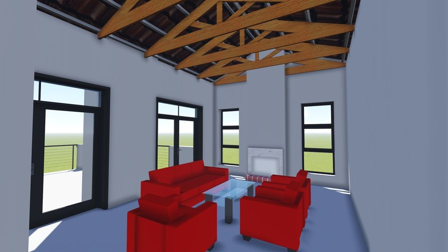 Architecture House 34 royalty-free 3d model - Preview no. 8