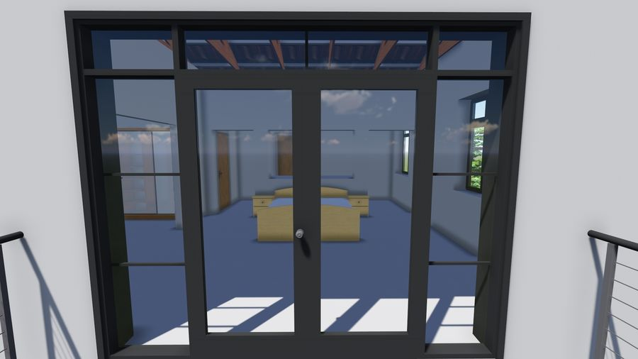 Architecture House 34 royalty-free 3d model - Preview no. 11
