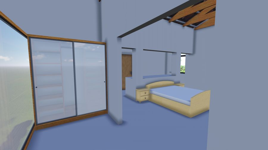Architecture House 34 royalty-free 3d model - Preview no. 10