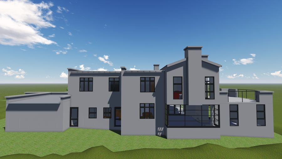 Architecture House 34 royalty-free 3d model - Preview no. 5