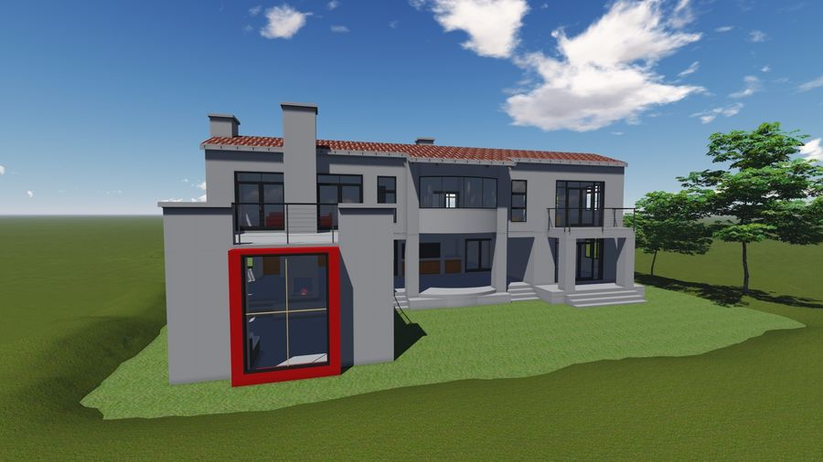 Architecture House 34 royalty-free 3d model - Preview no. 1