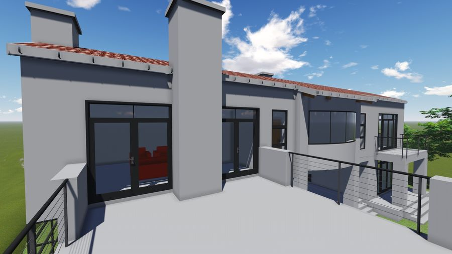 Architecture House 34 royalty-free 3d model - Preview no. 12