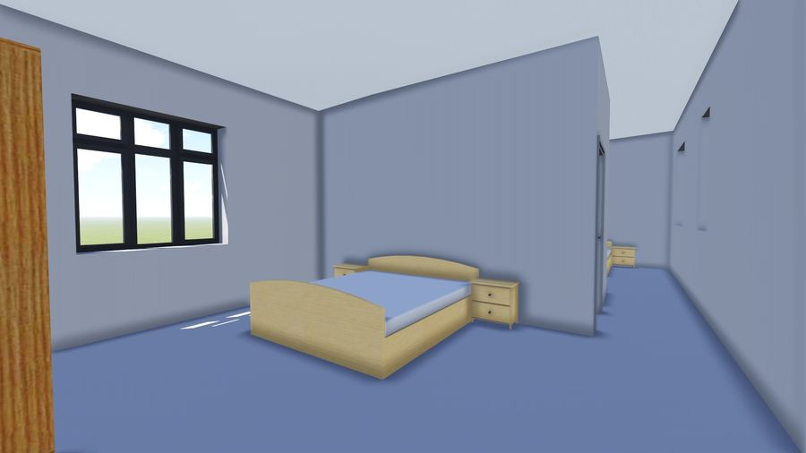 Architecture House 34 royalty-free 3d model - Preview no. 9