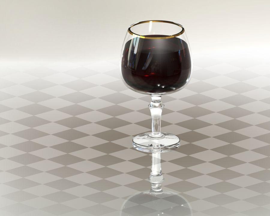 一杯酒 royalty-free 3d model - Preview no. 2
