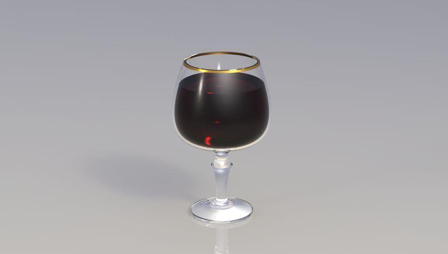 一杯酒 royalty-free 3d model - Preview no. 3