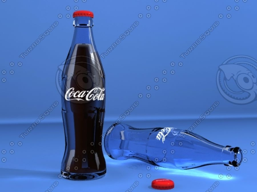 Бутылка кока-колы royalty-free 3d model - Preview no. 1