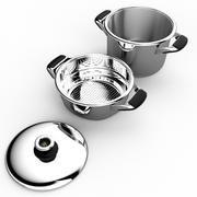 pot and colander 3d model