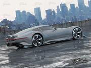 Mercedes Vision Gt + Milieu 3d model