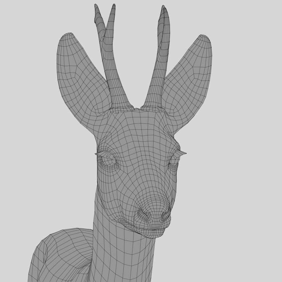 Roe-Deer-Buck royalty-free 3d model - Preview no. 12
