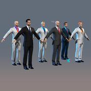 남성 정장 Alex 12 헤드 스킨 7 가지 눈 색깔 실시간 3d model