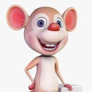 Mysz kreskówki 3d model