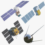 Спутники 3d model