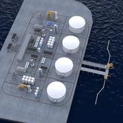 LNG-terminal 3d model