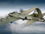 Boeing B-17 Super Fortress Bomber 3d model