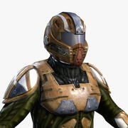 Sci-Fi Armor 4 (Male) 3d model