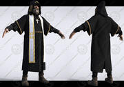 monk and priest 3d model