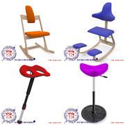 Chaises de mouvement ergonomiques 3d model