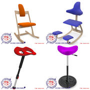 Ergonomic Movement Chairs 3d model