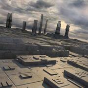 Sci-Fi City Futuristic Buildings 3d model