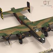 Handley 페이지 halifax MK3 RAF 3d model