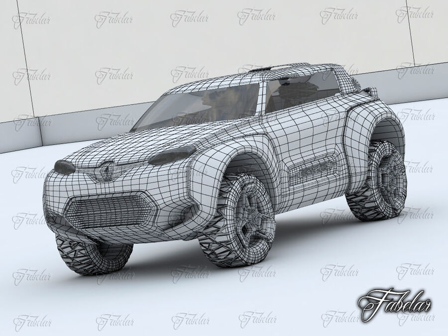 Renault Kwid + Milieu royalty-free 3d model - Preview no. 10