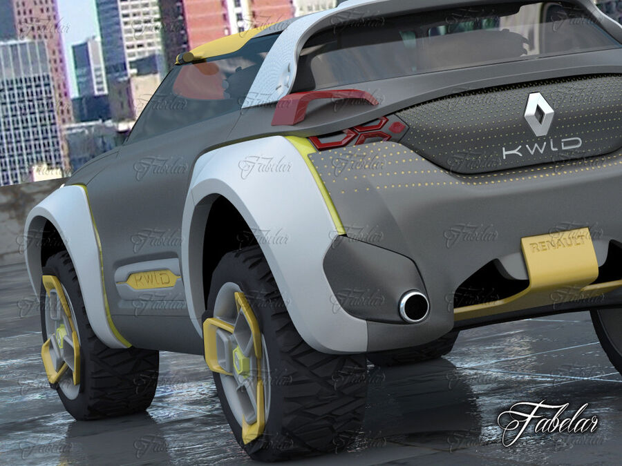 Renault Kwid + Milieu royalty-free 3d model - Preview no. 6