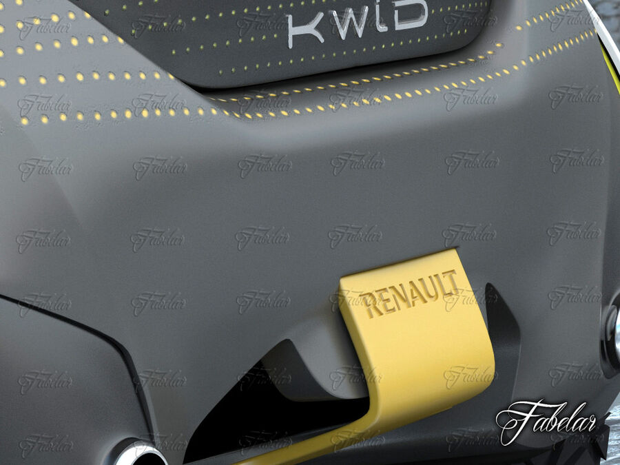 Renault Kwid + Milieu royalty-free 3d model - Preview no. 9