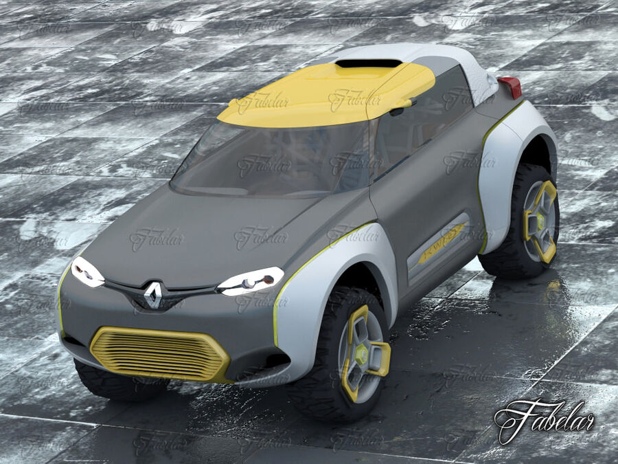 Renault Kwid + Milieu royalty-free 3d model - Preview no. 3