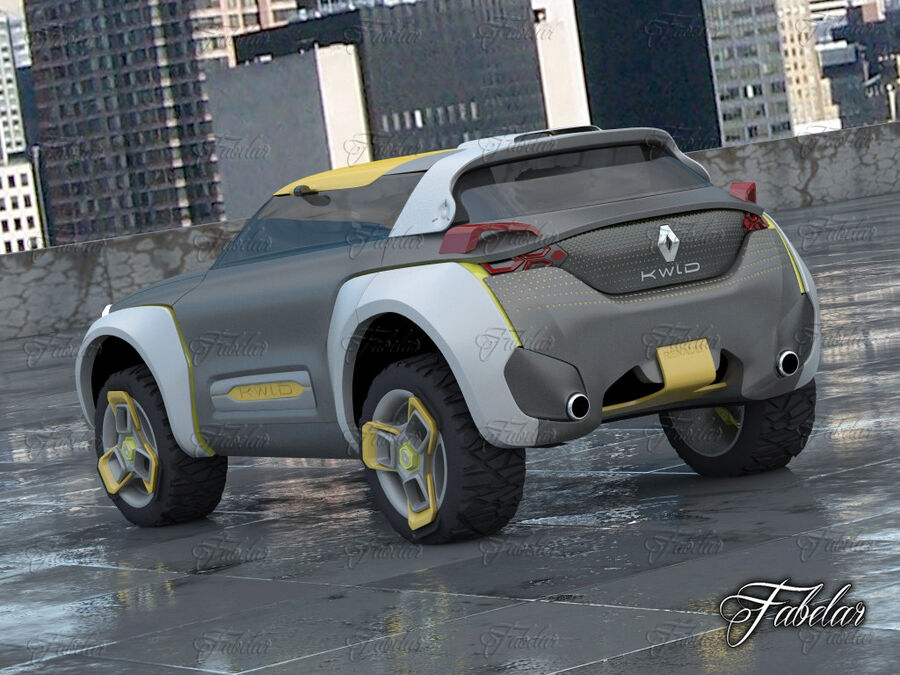 Renault Kwid + Milieu royalty-free 3d model - Preview no. 2