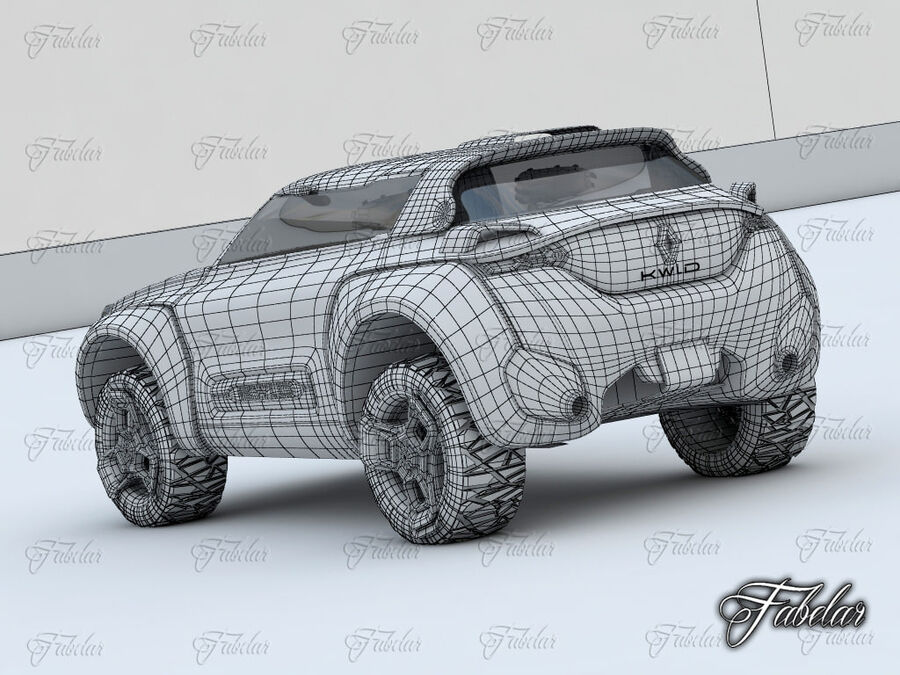 Renault Kwid + Milieu royalty-free 3d model - Preview no. 11