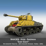 M4A3E8 Sherman-轻松八号-韩国 3d model