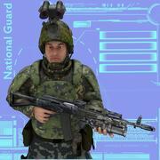 방위군 3d model