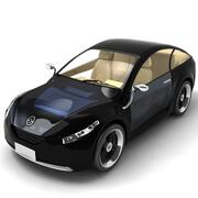Future Car Black 3d model