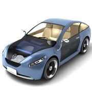 未来汽车蓝 3d model