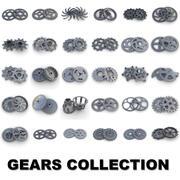 Coleção Steampunk Gears 3d model