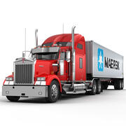 Kenworth W900 Container 3d model