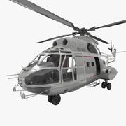 Utilitario Helicóptero SA 330 Puma aparejado modelo 3d
