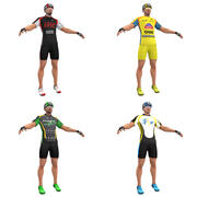 Bicyclists PACK 3d model