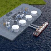 LNG Port 3d model