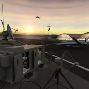 UAV滑走路と地上局 3d model