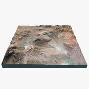 Vulkan landskap 3d model