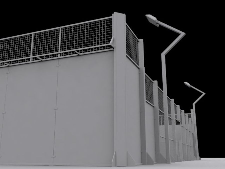 Campo da tennis di Padel royalty-free 3d model - Preview no. 6