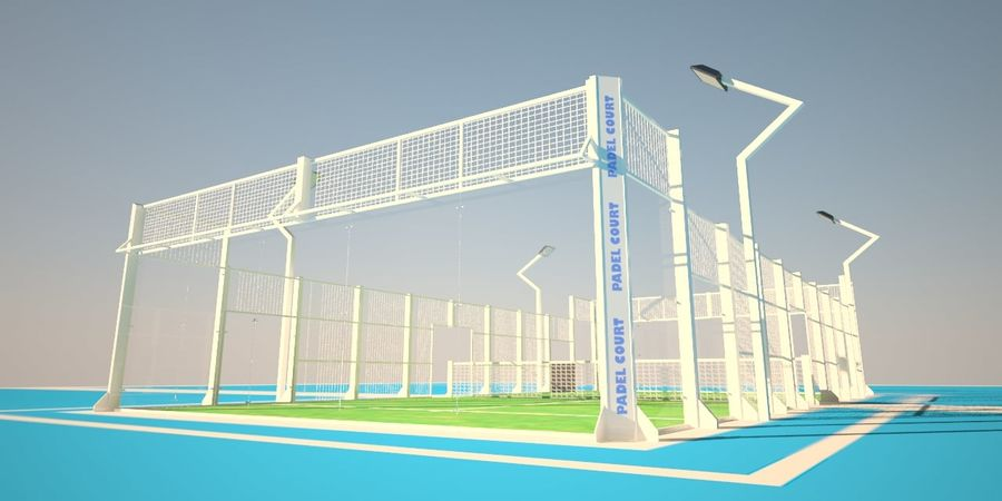 Campo da tennis di Padel royalty-free 3d model - Preview no. 1