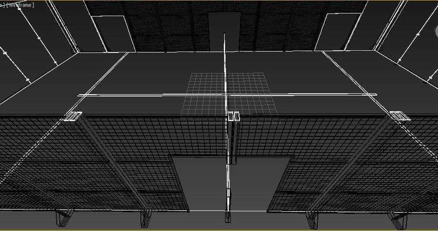 Pista de tenis Padel royalty-free modelo 3d - Preview no. 5