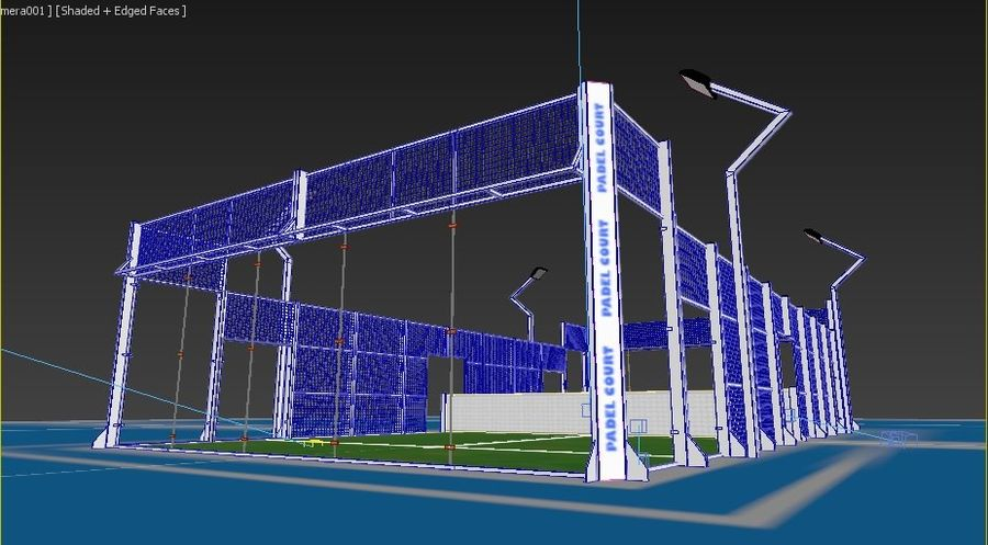 Padel Tennisbana royalty-free 3d model - Preview no. 4