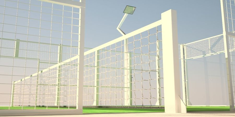 Padel Tennisbana royalty-free 3d model - Preview no. 2