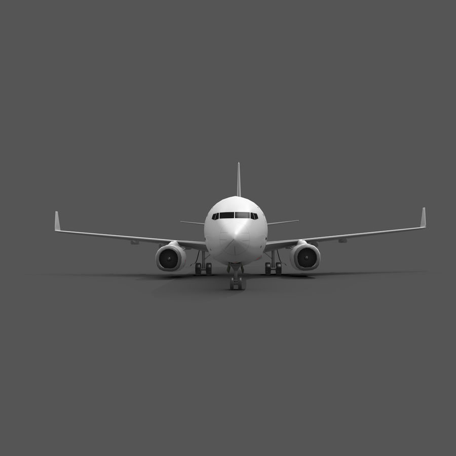 Boeing 737-800 royalty-free 3d model - Preview no. 2